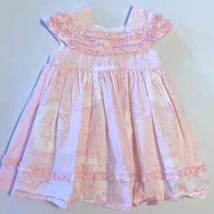 Other - Pink Toile Print Dress • 6/9 Month